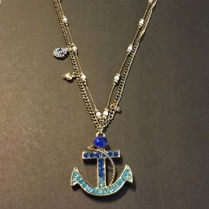 Betsy Johnson Nautical Anchor Necklace